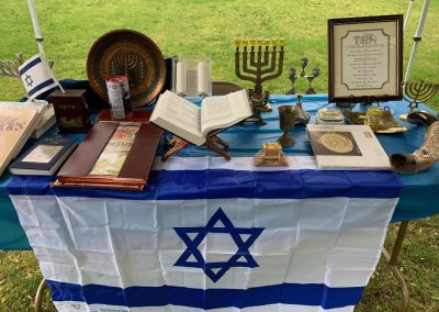Display of Judaica and biblical material